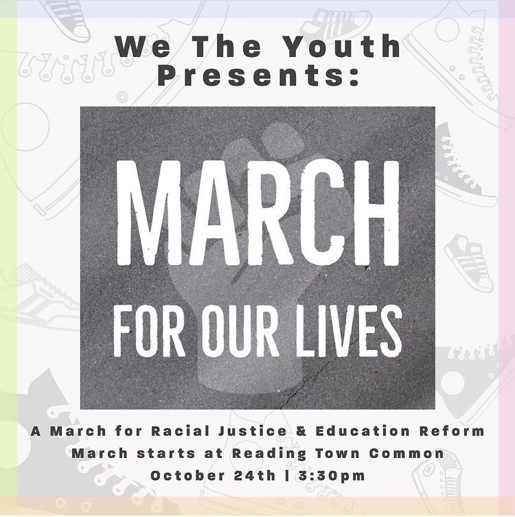 A flyer advertises We The Youth's fall demonstration:  March for Our Lives.