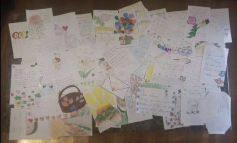 Some of the cards that RMHS students sent to local seniors recently.