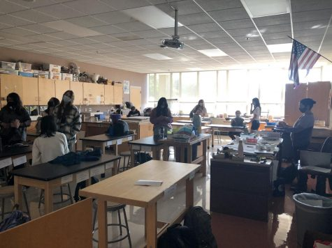Members of the Art Club recently met for the first time this school year.